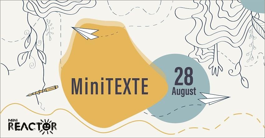 MiniTEXTE. Cuvinte de copii | apel de înscriere